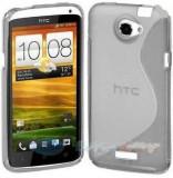 Husa HTC ONE X / XL + folie protectie display + stylus, Transparent, Gel TPU