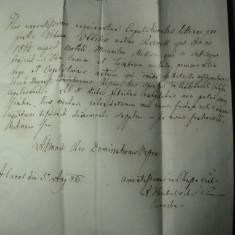 4 - CORESPONDENTA OFICIALA BISERICEASCA IN LIMBA LATINA - TRANSILVANIA 1865 - SIGILIU SEC - STAMPILA KARLSBURG (ALBA IULIA) - EXP. DIN TEIUS EX OFFO