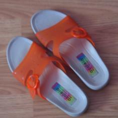 Papuci de dama portocalii marime 39 - Papuci dama, 37 1/3