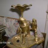 Sfaenic masiv bronz... - Metal/Fonta, Sfesnice