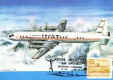 Carte maxima Avion IL-18, zbor omagial Bucuresti-Timisoara