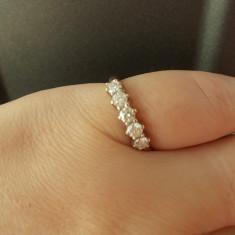 Superb inel banda / verigheta aur galben 18K cu diamante naturale 0.50CT - Inel aur