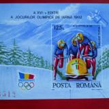 1992 J O de iarna Albertville - colita nedantelata LP 1276 1395 - Timbre Romania, Nestampilat