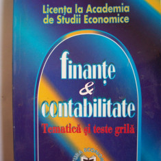 FINANTE SI CONTABILITATE TEMATICA SI TEXTE GRILA, - Carte Contabilitate