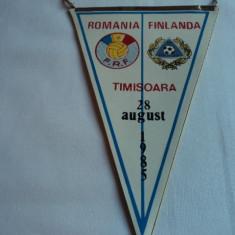 Fanion fotbal ROMANIA - FINLANDA 28.08.1985