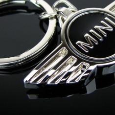 Breloc negru pentru Mini Cooper bmw - cutie simpla cadou - Breloc Auto