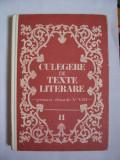 Culegere de texte literare pentru clasele V-VIII , VOL 2 ,  Vasile Teodorescu