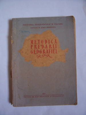 METODICA PREDARII GEOGRAFIEI RPR foto