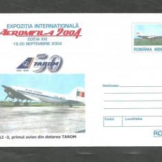 PRIMUL AVION DE PASAGERI LI-2 DIN DOTAREA TAROM, intreg postal 2004 necirculat