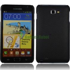 Husa neagra mesh Samsung Galaxy Note i9220 + folie ecran + expediere gratuita