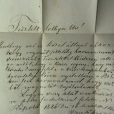 14 - CORESPONDENTA TRANSILVANIA 1886 - NAGY RAPOLT(RAPOLTU MARE-HD) - PISKI(SIMERIA) - SIGILIU DE CEARA ROSIE SI STAMPILE