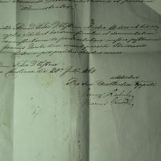 11 - CORESPONDENTA OFICIALA BISERICEASCA - TRANSILVANIA 1864 - KARLSBURG FESTUNG(CETATEA ALBAIULIA) - TOVIS(TEIUS) - STAMPILE SI DE SIGILIU CEARA