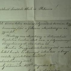 15 - COREPONDENTA TRANSILVANIA 1871 - GYULAFEHERVAR(ALBA IULIA) - TOVIS(TEIUS) - SIGILIU CEARA ROSIE SI STAMPILA