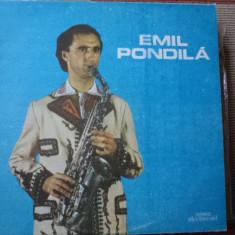Emil Pondila disc vinyl lp Muzica Populara electrecord romaneasca folclor saxofon, VINIL