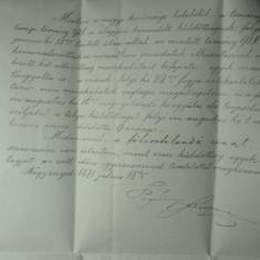 8 - CORESPONDENTA OFICIALA - TRANSILVANIA 1871 - NAGYENYED(AIUD) - TOVIS(TEIUS) - INVITATIE LA CONSILIUL ORASULUI - SIGILIU OFICIAL SI STAMPILA
