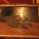 Tablou natura moarta cu capsuni - Pictor roman, Impresionism