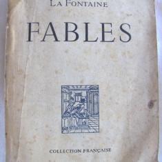 """Carte veche: """"FABLES"""", La Fontaine, 1946, Alta editura"""