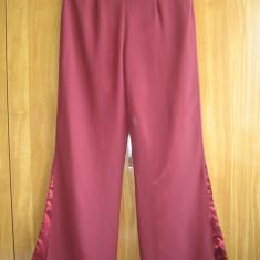 Pantaloni voal visiniu, eleganti Mar M - Pantaloni dama, Marime: M, Culoare: Grena, Lungi, Poliester