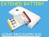 Baterie extinsa + capac spate Sony Ericsson XPERIA  X10 expediere gratuita + folie protectie ecran