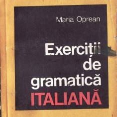 EXERCITII DE GRAMATICA ITALIANA de MARIA OPREAN
