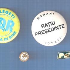 LOT INSIGNE PARTIDE POLITICE + INSIGNE CAMPANIE ELECTORALA - Insigna