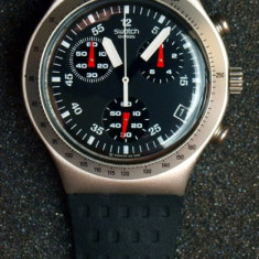 Ceas SWATCH Chronograph Irony. Aluminium Case. Four Jewels. WR. - Ceas barbatesc Swatch, Quartz