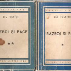 (C1385) RAZBOI SI PACE DE LEV TOLSTOI, EDITURA CARTEA RUSA, BUCURESTI, 1949, TRADUCERE DE N. PAROCESCU, SUB INGRIJIREA LUI AL. PHILIPPIDE, 4 VOLUME