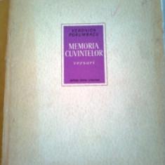 MEMORIA CUVINTELOR ( VERSURI ) - POEZII ~ VERONICA PORUMBACU - Carte poezie