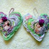 Mixed Media Home Decor Vintage Hearts