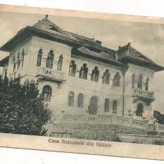 Carte postala(ilustrata)-SIBIU-SALISTE-Casa nationala anul 1935 - Carte Postala Transilvania dupa 1918, Circulata, Printata