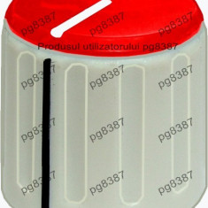 Buton pentru potentiometru, 20mm, plastic, gri-rosu, 20x19mm - 127130