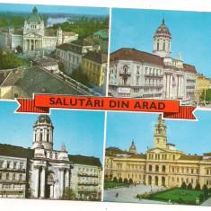 Carte postala(ilustrata)-ARAD-colaj - Carte Postala Crisana dupa 1918, Circulata, Printata