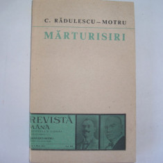 Marturisiri - C. Radulescu-Motru,r13