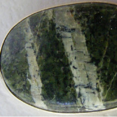 Medalion vechi din argint cu piatra (2) - de colectie - Colier argint