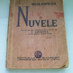 MIHAIL EMINESCU - NUVELE AN.1934 - Carte Editie princeps