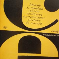 METODE SI INSTALATII PENTRU VERIFICAREA INSTRUMENTELOR ELECTRICE DE MASURAT