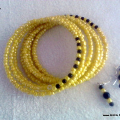 Set bijuterii handmade Yellow Bee - Set bijuterii handmade si fashion