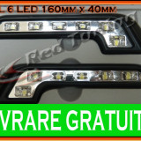 DRL (LUMINI DE ZI) TYPER 6-LED 1W - 160mm x 40mm - TIP MERCEDES