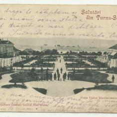 TURNU SEVERIN : PIATA TUDOR VLADIMIRESCU - U.P.U., circulata 1901, timbru