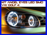KIT INELE ANGEL EYE EYES CU LED SMD - VW GOLF 4 - CULOARE ALB XENON 6000K, Universal, ZDM