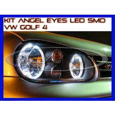KIT INELE ANGEL EYE EYES CU LED SMD - VW GOLF 4 - CULOARE ALB XENON 6000K