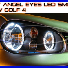 KIT INELE ANGEL EYE EYES CU LED SMD - VW GOLF 4 - CULOARE ALB XENON 6000K