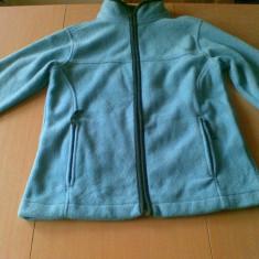 Hanorac fleece flece dama femei fete marimea 40 L marca Slazenger - Hanorac dama, Culoare: Aqua, Poliester