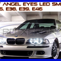 KIT INELE ANGEL EYES - 84 LED SMD 3528 - BMW E36, E38, E39, E46 - CULOARE 6000K ZDM, Universal