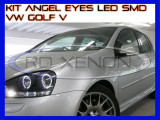 KIT INELE ANGEL EYE EYES CU LED SMD - VW GOLF 5 - CULOARE ALB XENON 6000K