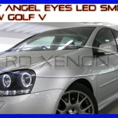 KIT INELE ANGEL EYE EYES CU LED SMD - VW GOLF 5 - CULOARE ALB XENON 6000K ZDM, Universal
