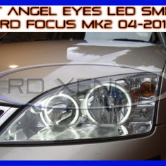 KIT INELE ANGEL EYE EYES CU LED SMD - FORD FOCUS MK2 2004-2010 ZDM, Universal