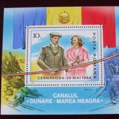 Romania 1985 - ELENA SI NICOLAE CEAUSESCU, colita MNH, N13