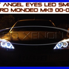 KIT INELE ANGEL EYE EYES CU LED SMD - FORD MONDEO MK3 2000-2007 ZDM, Universal