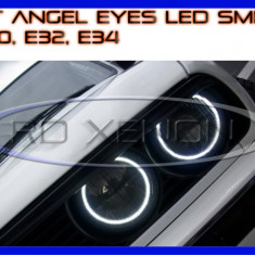 KIT INELE ANGEL EYE EYES CU 66 LED SMD - BMW E30, E32, E34 ZDM, Universal